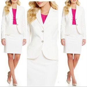 Calvin Klein Women's Two-Button Suit Jacket -Cream
